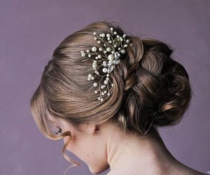 etsy, bridal hair comb, and floral hair comb image