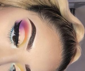 colorful, eye shadow, and cute image