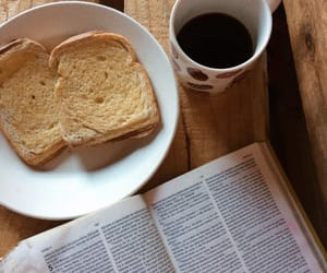 bible, outono, and coffee image