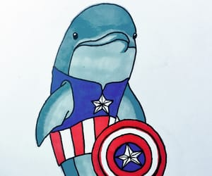 art, Avengers, and dolphin image