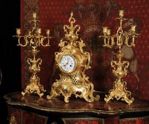 baroque, candelabra, and clocks image