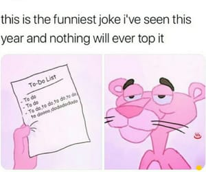 funny, lol, and pink panther image