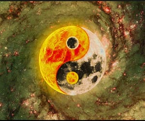 art, chinese, and moon image