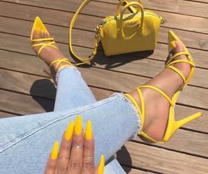 yellow, fashion, and nails image