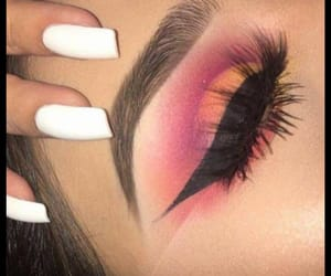 makeup, maquillaje, and pink image