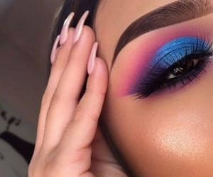 blue, makeup, and maquillaje image