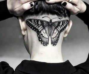 black, gray, and Tattoos image