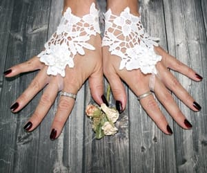 bridal, lace gloves, and bridesmaids gift image