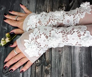 bridal, etsy, and gloves image