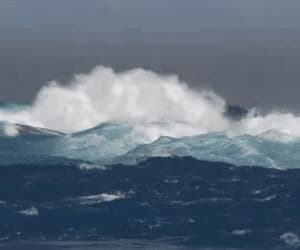 gif, ocean, and waves image