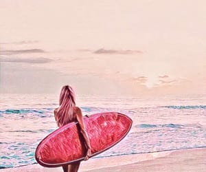 beach, summer, and edit image