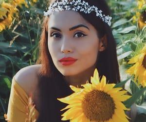 bohemian, inspiration, and sunflower image