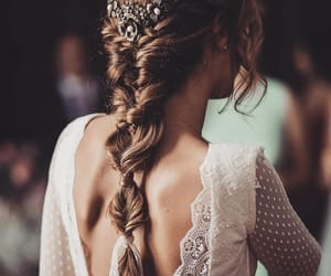 wedding, hairstyle, and photo image