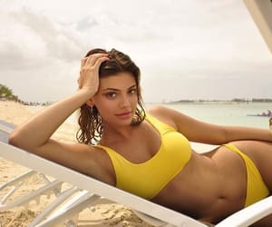 beach, Hot, and swimsuit image