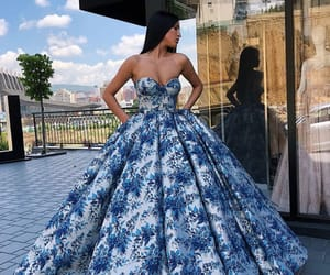 blue, dress, and night image