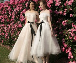 girls, tulle, and bridesmaid dress image