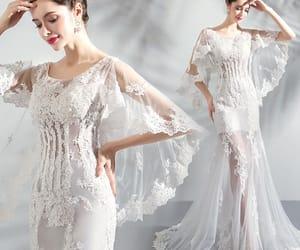 bridal, bride, and beach wedding dress image