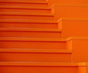 orange, stairs, and aesthetic image