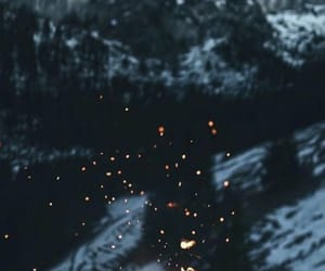 fire, snow, and sparks image