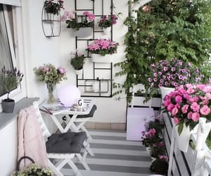 balcony, house, and cozy image