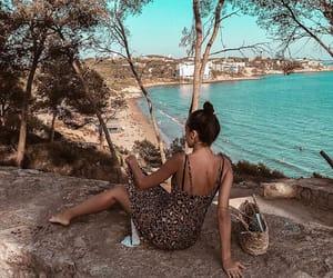 beach, dress, and leopard print image