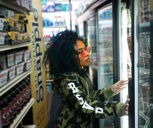 girl, hypebeast, and grocery store image
