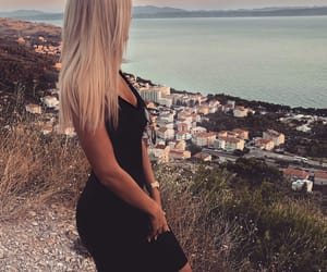 black dress, blond, and blondie image