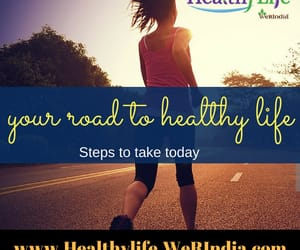 healthy living lifestyle, your road to healthy life, and healthy mind image