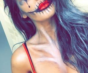 clown, Halloween, and makeup image