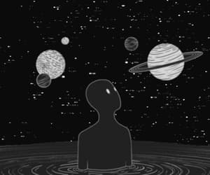 space, planet, and aesthetic image