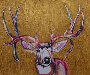 acrylic paintings, mixed media, and nature and animals image
