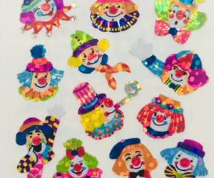 clown, stickers, and kidcore image