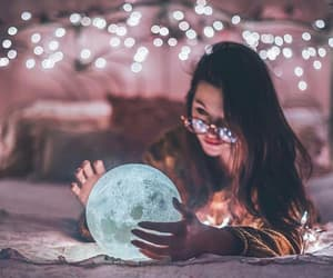 beauty, glasses, and moon image