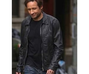 david duchovny, hollywood, and leather jacket image