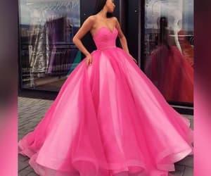 dress, pink, and fashion image