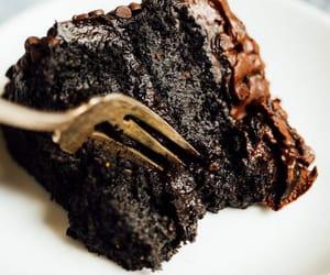 black, chocolate, and cake image