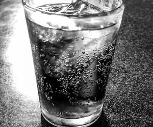 b&w, coke, and beverage image