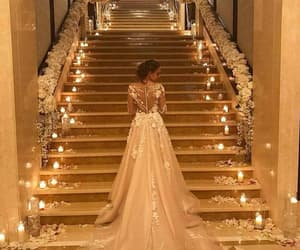 dress, mariage, and white image