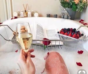 bath, luxury, and book image