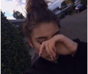 girl, nails, and hair image