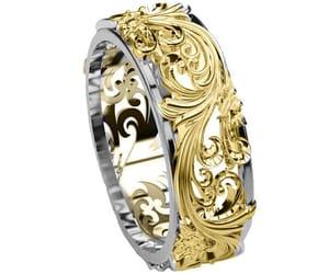 wedding ring, eternity ring, and wedding band image