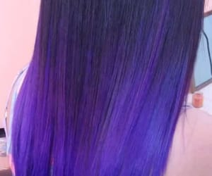 beautiful hair, hair, and purple image