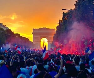arc de triomphe, football, and france image