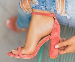 chic, fashion, and feet image