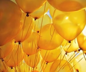 aesthetic, balloons, and sunshine image