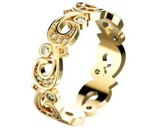 band, wedding band ring, and milgrain ring image