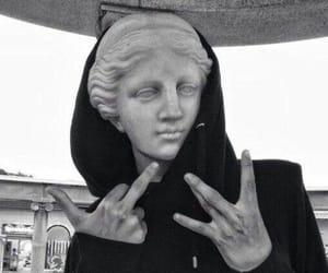 grunge, statue, and black image