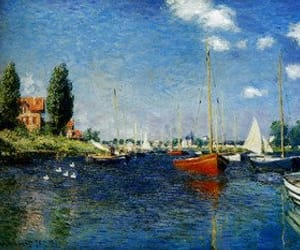 blue, claude monet, and impressionism image