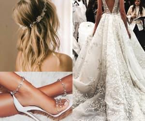 dress, hair, and moda image