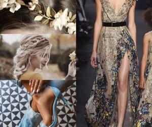 dress, gold, and moda image